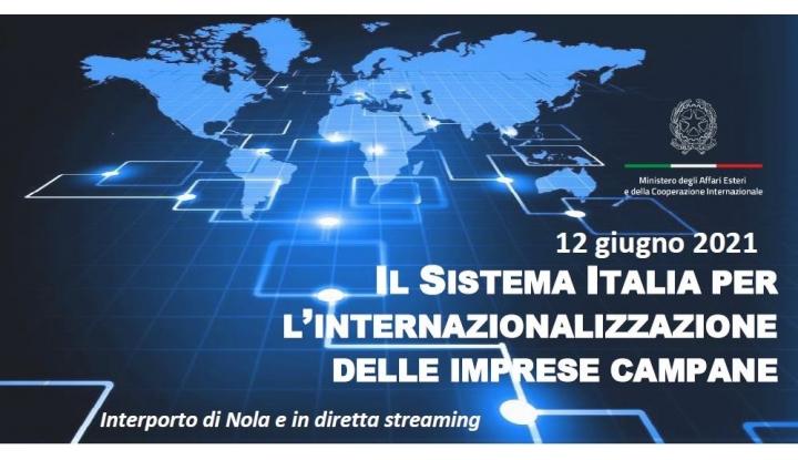IL SISTEMA ITALIA PERL'INTERNAZIONALIZZAZIONEDELLE IMPRESE CAMPANE - 12 GIUGNO 2021: Invito Cocktail